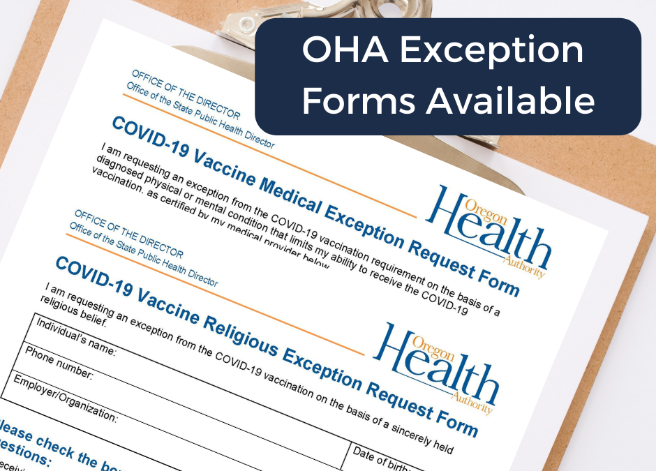 OHA Mandate Rules & Exception Forms